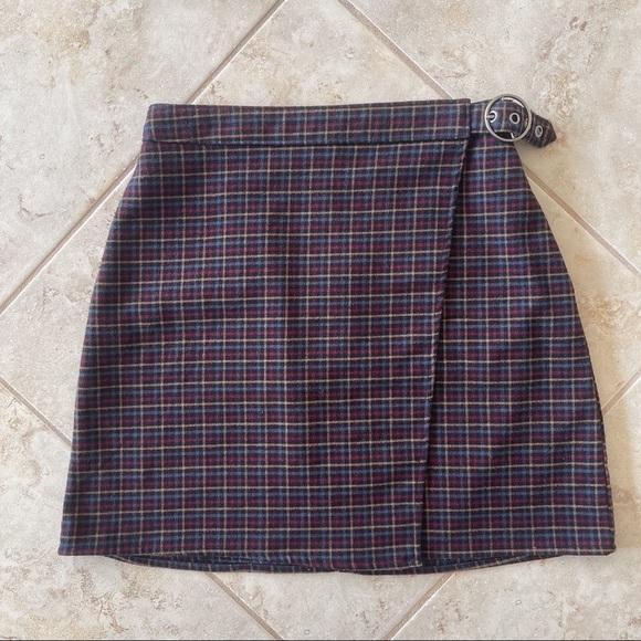 Hollister Plaid A-Line Skirt